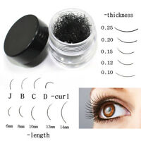 1 Pot Black Individual False Eyelash Extension Eye Lashes Eye Makeup Cosmetic