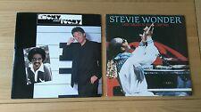 "Stevie Wonder Job Lot 2x UK 7"" Ebony And Ivory I Just Called To Say 1980s Pop"
