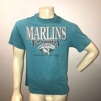 1993 Miami Florida Marlins Vintage 90s Retro Throwback Teal Inaugural Year Shirt