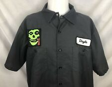 The Misfits Short Sleeve Mechanics Shirt Doyle Only Glenn Danzig Punk Mens XL