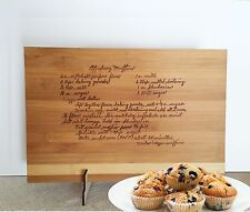 Personalised engraved Handwritten cutting board, mother's birthday Family gift