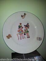 PICKMAN SEVILLA Plato Llano Infantil Antiguo Barro Esmaltado siglo XX coleccion