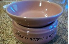 Candle/Tart Warmer (2-Piece ELECTRIC) INSPIRATIONS Relax/Renew/Refresh