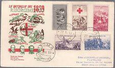 ITALIA BUSTA FDC 100° INDIPENDENZA LA BENEMERITA CARABINIERI 1959 ANNULLO ROMA