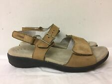 MEPHISTO AIR RELAX Tan Nubuck Leather Ankle Strap Sandals Women size EUR 37