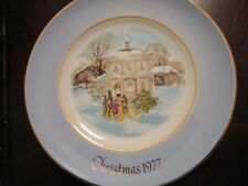 Wedgwood Collector Plate For Avon Carolers In The Snow Nib 8""