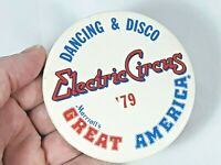 Vintage Button Dancing & Disco Electric Circus Marriot's Great America Pinback