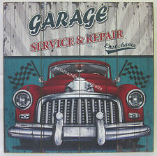 50cm New Rustic Wooden Garage Sign Service & Repair for Man Cave or Bar