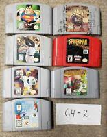 Lot Of 7 N64 Games Nintendo 64 Mortal Kombat Trilogy, Spider-Man, Robotron 64 #2