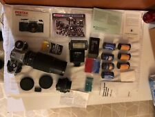 Pentax Super Program 35mm Film Camera With Lot Of Accessories And Film.