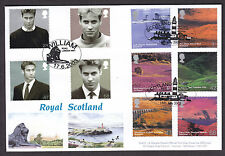 2003 PRINCE WILLIAM AND A BRITISH JOURNEY SCOTLAND DOUBLE DATED FDC ON DW22 FDC