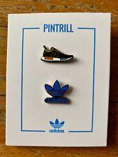 PINTRILL X ADIDAS ORIGINALS Exclusive 2 Pin Set NMD OG Trefoil Logo Blue Black