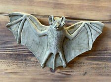STONE GARDEN HANGING BAT WITH WINGS WALL PLAQUE GIFT ORNAMENT