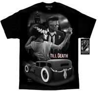 DGA David Gonzales Art Fresh Cut Till Death Bride of Frankenstein Tattoo T Shirt