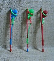 KARAGIOZIS KARAGIOZ Lot X 3 Plastic Penny toys Made in Greece Greek VINTAGE RARE