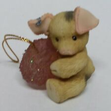 This Little Piggy Pig Holding Pink Glitter Gumdrop by Enesco