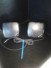 Sony Walkman Mini Stereo SRS-5 Speaker System - Black PortableTested Nice Sound