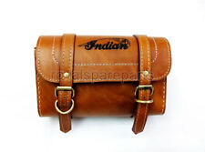 Royal Enfield Tan Leather Tool Bag With Indian Logo