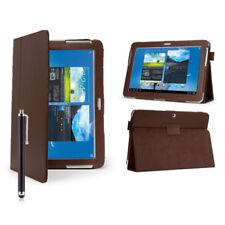 Custodie e copritastiera marrone in pelle sintetica per tablet ed eBook Samsung