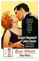 Back Street Susan Hayward vintage movie poster print