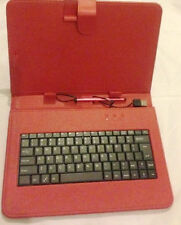 "10 ""Inch PU Leather Red Case Cover USB Keyboard Stylus with for Android Tablet"