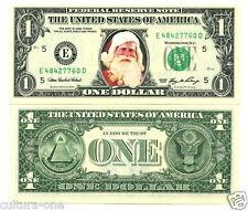 LE PERE NOËL VRAI BILLET de 1 DOLLAR !! IDEE CADEAU ORIGINALE - Collection us C