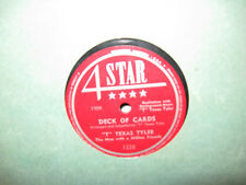 """4 Star 78 #1228 - """"T"""" Texas Tyler - """"Deck Of Cards"""" & """"Sweet Thing"""""""