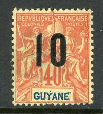 Guyane 1912 French Guiana 10¢/40¢ Scott #92 Mint H537