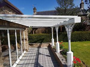 Aluminium Victorian veranda manufactured to order  10 working days