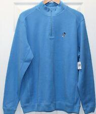 Disney Parks Pullover 3/4 Zip Mock Turtleneck 100% Heavy-Weight Cotton Size L