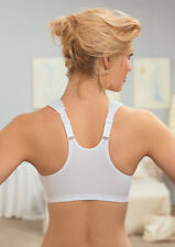 NEW Bra msrp $42 FRONT-CLOSE Support WIDE-STRAPS T-Back Racerback White CLOSEOUT