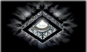Kristall Deko Einbaustrahler MR16 GU10 GU5.3 Lampe Spot licht Quadrat 773S/CL 16