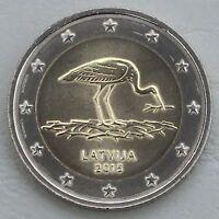 2 Euro Lettland 2015 Schwarzstorch unz.