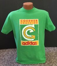 Vintage Dead Stock ADIDAS Coerver Coaching Green T-Shirt Size M Made In USA