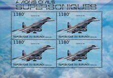 NASA TUPOLEV Tu-144 Flying Laboratory SST Aircraft Stamp Sheet (2012 Burundi)