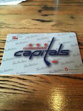 2015 Cowichan Capitals Tim HORTONS BCHL HOCKEY GIFT CARD Very Rare