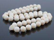 "Vintage Natural Angelskin Coral 9mm Bead Necklace, 14K gold clasp, 22.25"", 61.9g"
