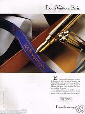 Publicité advertising 1989 Le stylo Plume Louis Vuitton par Gae Aulenti