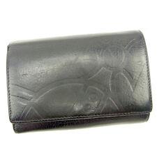 Vivienne Westwood Wallet Purse Orb Black Woman unisex Authentic Used Y7347