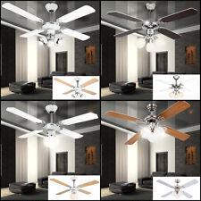 Decken Ventilator AUSWAHL Wohnzimmer Kühler 3 Stufen Lüfter Zugschalter Leuchten
