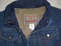 Diesel Jacke Jeansjacke warm mit Teddy- Fell gefüttert ! Gr. S, NEU ! blue Denim
