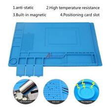 33.7*22.7cm Anti Static Repair Heat Insulation Silicone Pad Desk Mat Magnetic~
