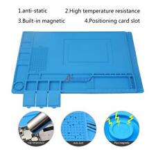 33.7x22.7cm Anti Static Repair Heat Insulation Silicone Pad Desk Mat Magnetic