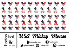 Patriotic Mickey Mouse Waterslide Nail Decal - 50 pc - BNA-10146