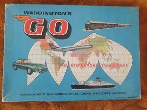 Vintage Waddington's Go The International Travel Board Game 1961