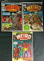 Lot of 3 Weird Wonder Tales #2 #3 #5 Marvel Comics Group 1973 1974