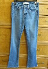 Women's Abercrombie & Fitch boot cut 26 x 33 blue jeans size 2R brand new NWOT