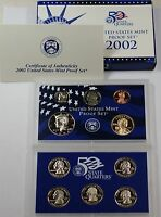 2002 U.S. Mint Proof Set in Original Government Packaging W/ Envelope and COA