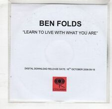 (HC652) Ben Folds, Learn To Live With What You Are - 2006 DJ CD