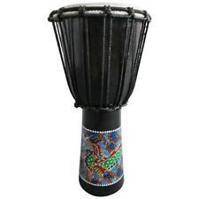 40cm Djembe Trommel Bongo Drache Bemalt Holz Plastic String